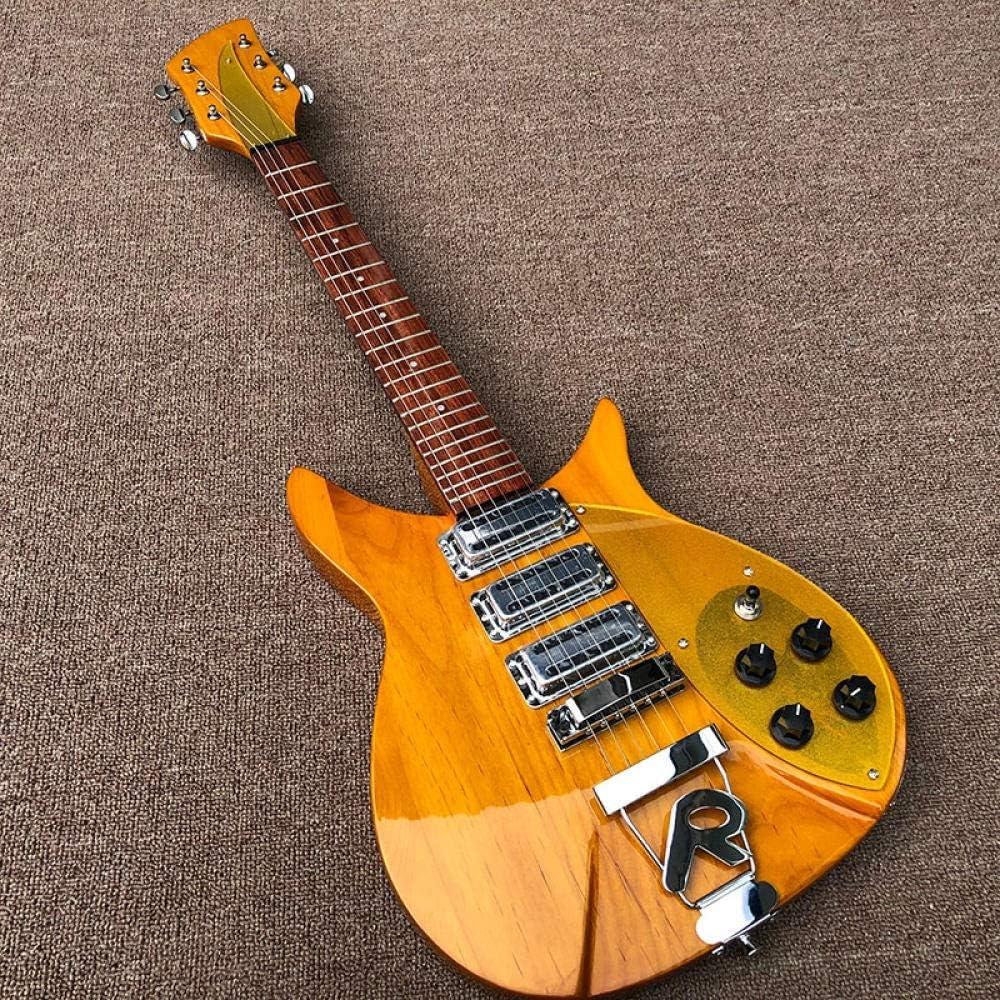 MLKJSYBA Guitarra Guitarra Eléctrica Tamaño Corta Guitarra Eléctrica De Madera sobre El Cuerpo Y La Cuello De La Cuerda De Acero Acústico Guitarras Guitarras acústicas