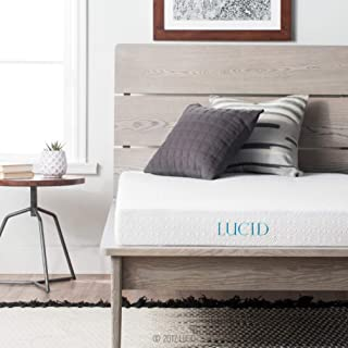 LUCID 5 Inch Gel Memory Foam Dual-Layered-CertiPUR-US Certified-Firm Feel Mattress, California King