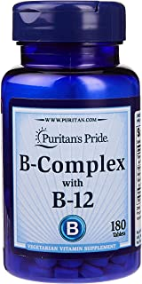 Puritans Pride Vitamin B-Complex and Vitamin B-12, 180 Count