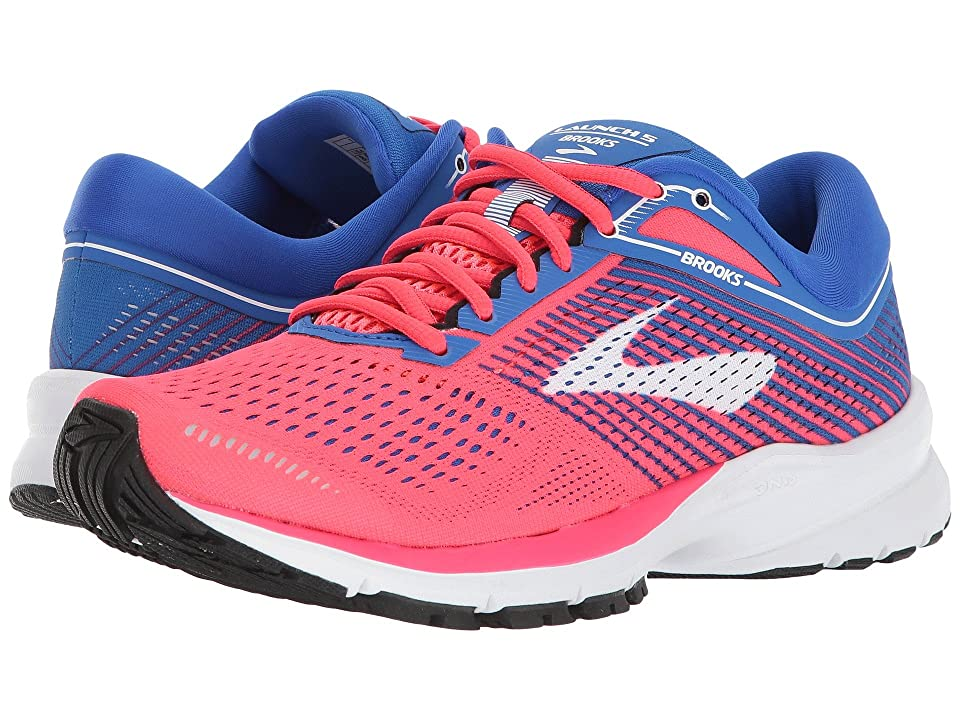 Brooks Launch 5 (Pink/Blue/White) Women