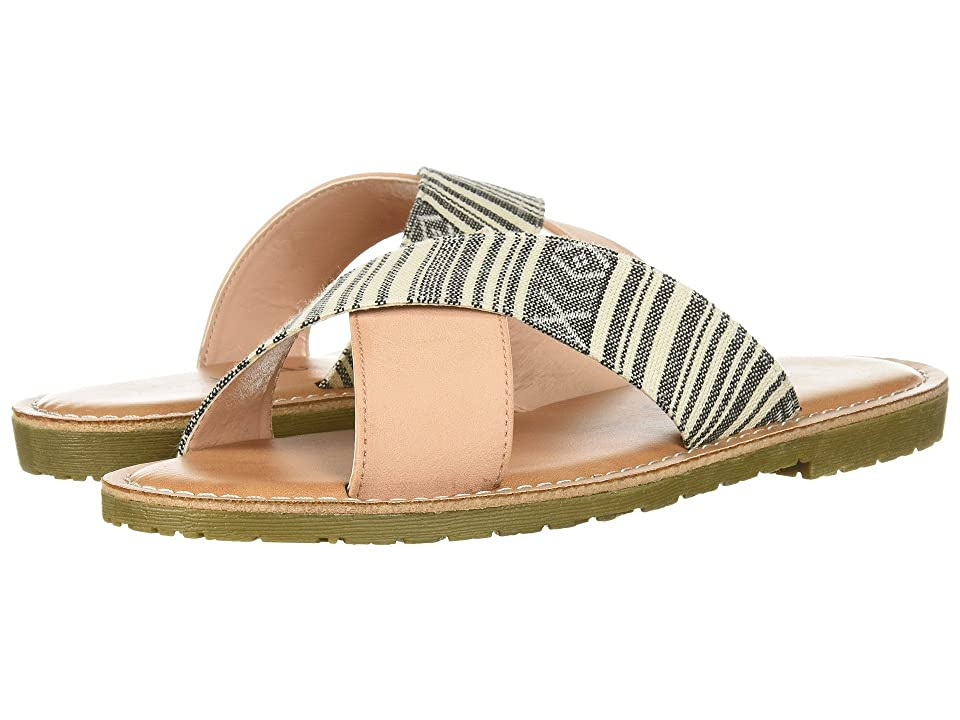 Dirty Laundry Edie Slide Sandal (Black/Pink Mixed Material) Women