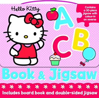 Hello Kitty Jigsaw Book and Puzzle: ABC (Book & Floor Jigsaw Puzzle) by Carly Blake (1-Oct-2013) Board book