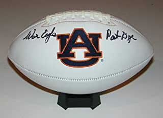 Pat Dye Signed Autographed Auto Auburn Tigers Logo Football w/War Eagle - Proof