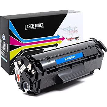 Black,2 Pack Q2612A SuppliesOutlet Compatible Toner Cartridge Replacement for HP 12A