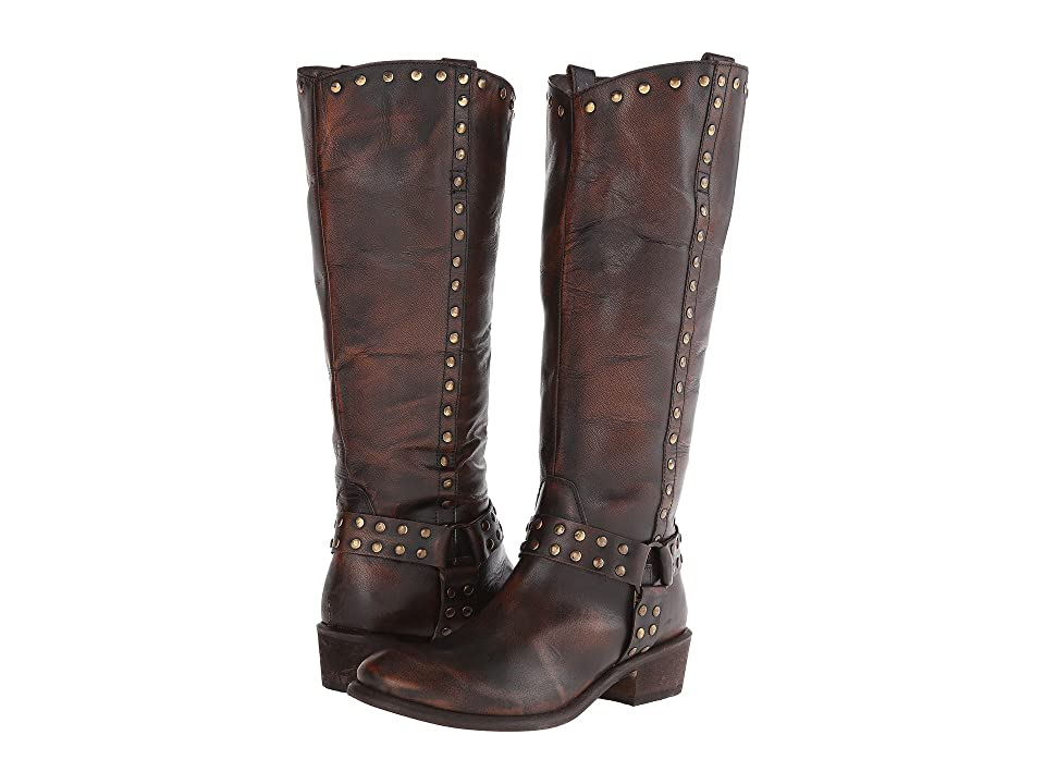 Roper Studded Harness Riding Boot (Brown) Cowboy Boots