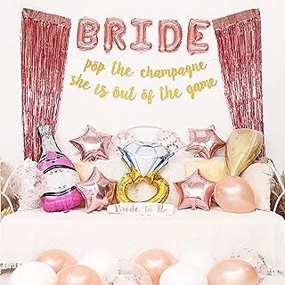 Vivaplus Bachelorette Party Decorations, Bridal Shower Decorations, Rose Gold Balloons, Dare Card Game, Bride Foil Balloon, Bride to Be Sash, Banner, Bachelorette Decor kit Set for Parties