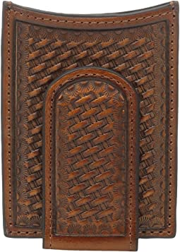 Basket Weave Pattern Money Clip