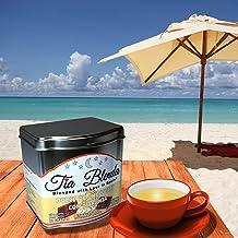 TIA BLENDA - DULCE DE CHOCOLATE CON NARANJA (80 g) - Refrescante TÉ NEGRO Indio Assam BOP Premium con CACAO y NARANJA. Té en hojas. 40 - 50 tazas. Presentación premium en lata. Loose Tea Caddy.