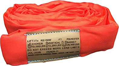Lift-It Mfg. Endless Polyester Round Sling, Heavy Duty, 12 feet Length, Red, Vertical WLL 13,200 Lbs
