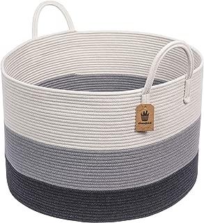 "INDRESSME XXXLarge Woven Rope Basket | Wide 21"" x 14"" Blanket Storage Basket.."