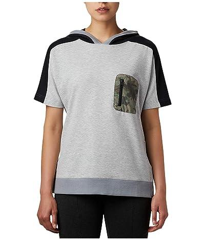 Columbia Parktm Short Sleeve Hoodie (Tradewinds Grey Heather/Black/Camo Print) Women