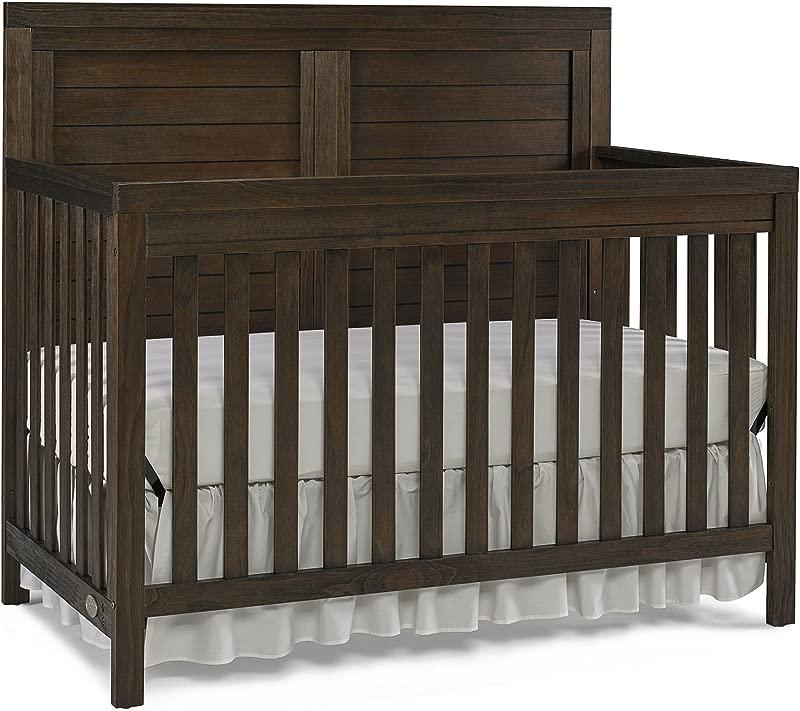 Ti Amo Castello 4 In 1 Convertible Crib Wire Brushed Brown