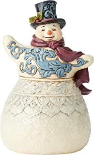 Jim Shore Heartwood Creek 6004184, Victorian Snowman with Scarf Figurine,Resin,5.875 Inches,Multicolor