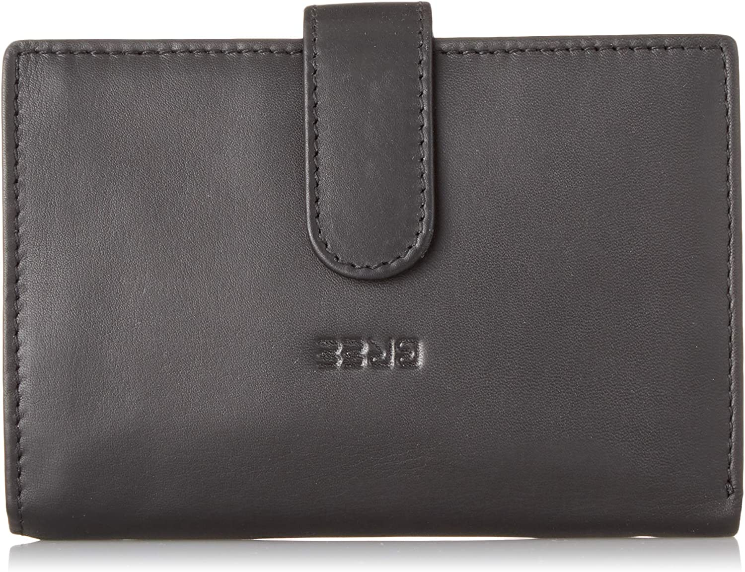 BREE Collection Liv New 119, Black Smooth, Combi. Purse, Women's Wallet, (Black Smooth), 2x10x14.5 cm (B x H T)