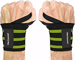 """Rip Toned Wrist Wraps 18"""" Professional Grade with Thumb Loops - Wrist Support Braces for Men & Women - Weight Lifting, Xfit, Powerlifting, Strength Training - Bonus Ebook"""