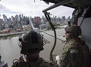 24x33 Poster, Sailors Fly Past The New York City Skyline on a MH-60S Sea Hawk Helicopter as Part of Fleet Week New York 2017 (34148334304)