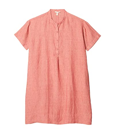 Eileen Fisher Petite Mandarin Collar Dress (Bright Standstone) Women