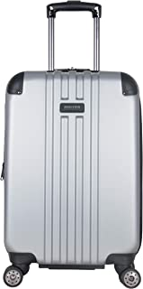 """Kenneth Cole Reaction Reverb 20"""" Hardside Expandable 8-Wheel Spinner Carry-on Luggage, Light Silver"""
