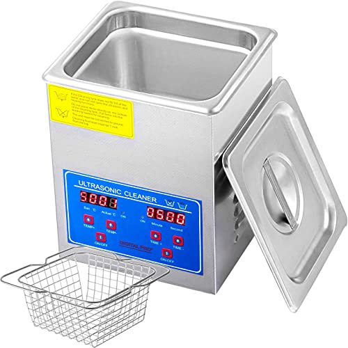 new arrival Mophorn Ultrasonic Cleaner 110V 2L Professional Commercial Ultrasonic Cleaner with Digital popular Timer and Heater for Jewelry Watch Glasses Circuit Board sale Dentures Small Parts Dental Instrument sale