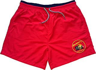 Baywatch Contrast Red/Navy - Licenced Swim Shorts