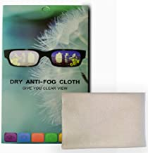 ASOG Anti-Fog Wipes for Glasses, Lens Wipes, Microfiber Cleaning Cloth, Multi-Purpose and Reusable Dry Nano Eye Glasses Cleaning Wipe