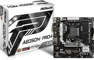 Asrock 90-MXB520-A0UAYZ - Placa Base (Ab350m Pro4, AMD, Am4, B350, 4ddr4, 64gb, Vga+Dvi+Hdmi, Gblan, 4sata3, 7usb3.1, Matx)