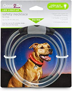 GOOD2GO LED Light-Up Safety Necklace for Dogs