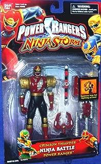 Power Rangers Ninja Storm Crimson Thunder Ninja Battle Ranger Action Figure