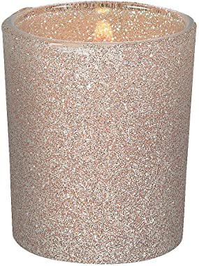 Fun Express - Champagne Glitter Votive Holders (dz) for Wedding - Home Decor - Candles and Candle Accessories - Candle Holder