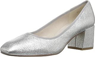 Kenneth Cole New York Womens ErynDressPumpLowHeelSquareToeSuede Eryn Dress Pump Low Heel Square Toe Suede Silver Size: 6.5 US / 6.5 AU