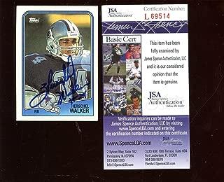 1988 Topps Football Card #261 Herschel Walker Autographed JSA Cert - Autographed College Cards