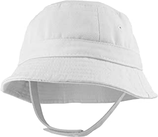 e6335772d45 Trendy Apparel Shop Infant Baby s 100% Cotton Bucket Hat with Adjustable  Chin Strap