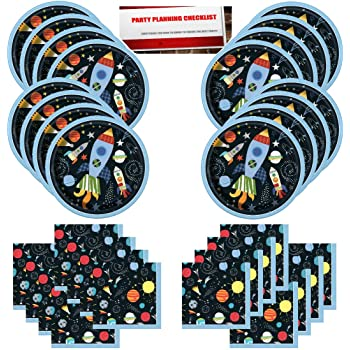 Space Blast Decoration Party Supplies Pack and Centerpiece Dizzy Danglers Banner Galaxy Party Supplies Solar System Party Decorations Outer Space Birthday Party Supplies