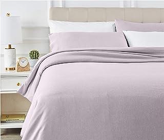 AmazonBasics - Juego de ropa de cama con funda de edredón, de microfibra, 230 x 220 cm, Morado (Purple Dusk)
