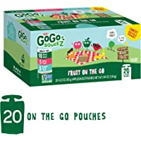 20 Pouches GoGo SqueeZ Applesauce on the Go Variety Pack