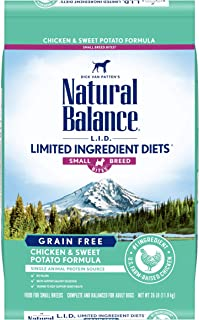 Natural Balance L.I.D. Limited Ingredient Diets Small Breed Bites Dry Dog Food, Chicken & Sweet Potato Formula, 26 Pounds