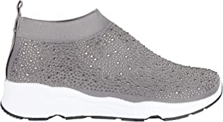KRISP Women Studded Sock Trainers Comfy Wedge Slip On Flat Shoes Pumps Sneakers Size