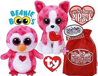 /& JULIET Ty Valentine Beanie Boos ~ ROMEO Penguin 6 Inch NEW MWMTS Dog