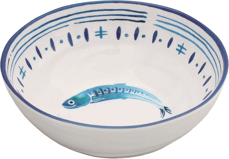 Le Cadeaux Santorini Melamine Salad or Cereal Bowl - Set of 4