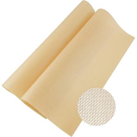 Pritogo Lot de 2 tapis de cuisson en silicone fibre de verre pour cuisson à long terme 42 x 30 cm Sans BPA 40 °C à 240 °C, revêtement anti-adhésif pour pizza, gâteaux, pâte, viande