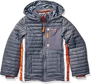 London Fog Boys' Big Active Puffer Jacket Winter Coat, Grey Super, 8