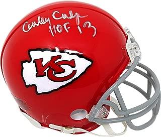 Curly Culp Signed Kansas City Chiefs Throwback Riddell Mini Helmet w/HOF'13