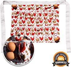 QPEAK Chicken Egg Collecting & Gathering Apron | 12 Deep Pockets Hold Up to 24 Eggs | Great Gift for Chicken Coop Accessories