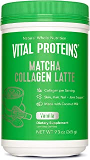 Sponsored Ad - Vital Proteins Matcha Lattes, Matcha Green Tea Collagen Latte Powder, L-Theanine & Caffeine & MCTs - Suppor...