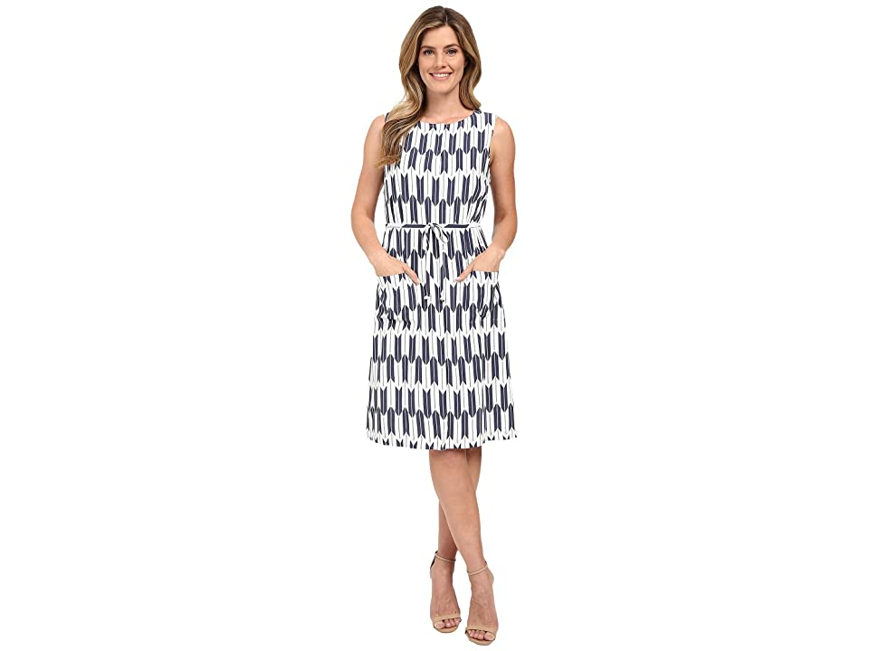 Pendleton Flora Dress (Indigo Arrow Stripe Print) Women