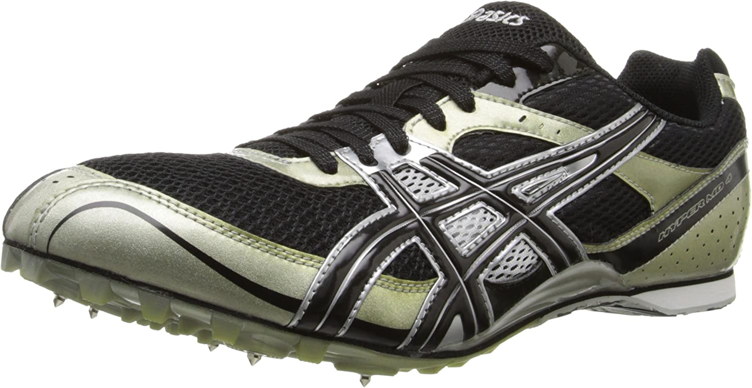 ASICS Men's Hyper MD Track And Field shoes,Black Onyx Silver,11 M