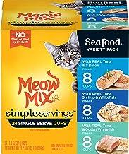 Meow Mix غذاهای ساده گربه مرطوب با ماهی واقعی