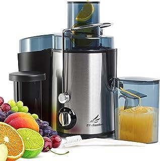 Extracteur de fruits et légumes numérique en acier inoxydable à 5 vitesses avec écran tactile extracteur de jus à froid et...