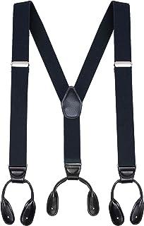 Buyless Fashion Tirantes hombre con sinfín 122 cm correas ajustables 3.18 cm - En Y