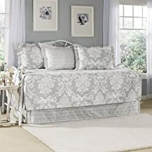 Laura Ashley Venetia 5-Piece Daybed Cover Set, Gray